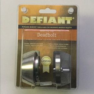 Defiant Deadbolt Keyed One Side Shiny Brass